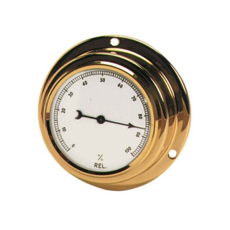 igrometro ottone Hygrometer polished brass case
