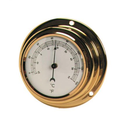 termometro Thermometer Polished brass case