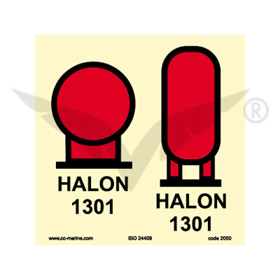 Halon 1301 bottles in protected area | Canepa & Campi
